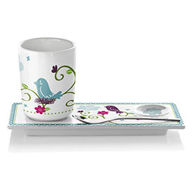 Ritzenhoff Bone China Tea Set With Matching Cup, Spoon & Tray