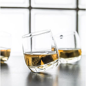 Whiskey Glass with Granite Stones